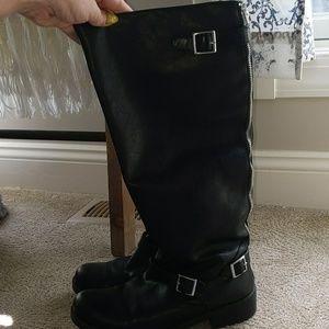 EUC black tall boots